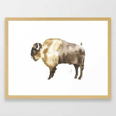 Bison Framed Art Print by The Aestate - Conservation Natural - MEDIUM (Gallery)-20x26 - Society6