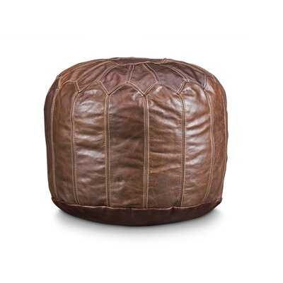Finnell Leather Pouf - Wayfair