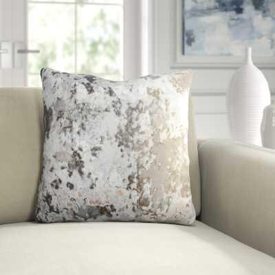 Aviva Stanoff Design Crushed Velvet Throw Pillow Color: Ombre Smolder On Taupe - Perigold