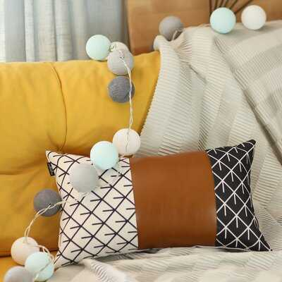 Jaxson Decorative Geometric Lumbar Pillow Cover - Wayfair