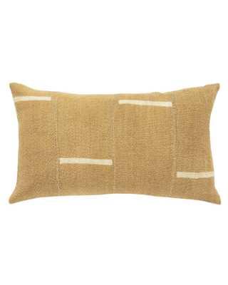 dash mud cloth lumbar pillow in tan - with insert - PillowPia