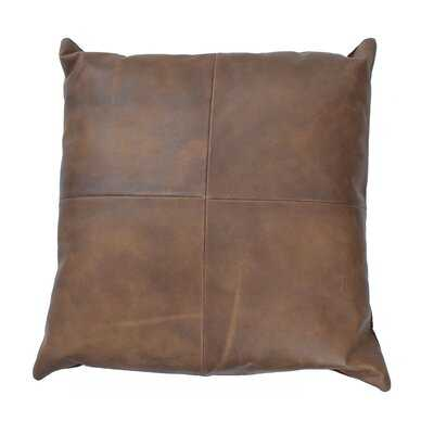 Harton Square Leather Pillow Cover and Insert - Wayfair