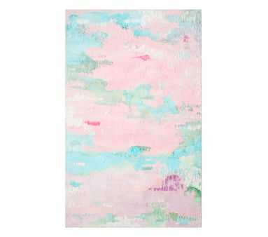 Clara Rug, 5x8', Pink Multi - Pottery Barn Kids