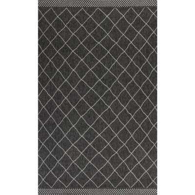 MILLERTON HOME Pacific Charcoal 7 ft. x 10 ft. Indoor/Outdoor Area Rug, Grey - Home Depot