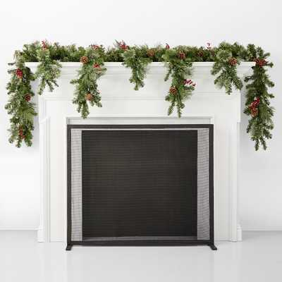 Classic Greenery Faux Cascading Mantle - Williams Sonoma