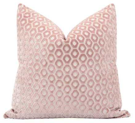 Paloma Cut Velvet // Blush - 20'' - Little Design Company