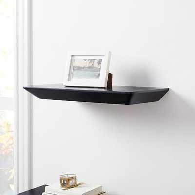 Slim Floating Shelves, Black, 2' - West Elm