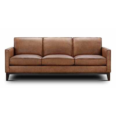 Zoticus Genuine Leather 86'' Square Arm Sofa - Wayfair