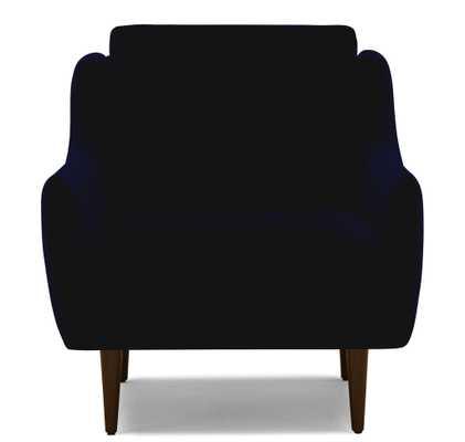 Blue Bell Mid Century Modern Chair - Bentley Indigo - Mocha - Joybird