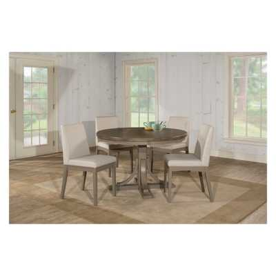 Clarion Five (5) Piece Round Dining Set with Upholstered Chairs Distressed Gray - Hillsdale Furniture - Target