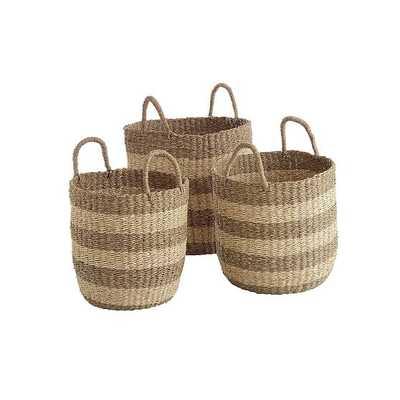"""Camden Baskets, Set of 3, 15.75""""x15.75""""x15.75"""" - West Elm"""