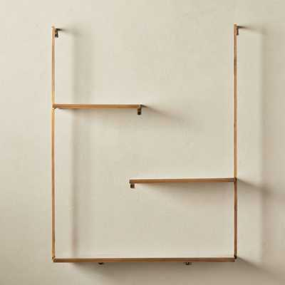 Spirit Brass Floating Ladder Shelf - CB2