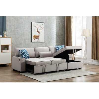 94.5'' Linen Blend Right Hand Facing Sleeper Sofa & Chaise - Wayfair