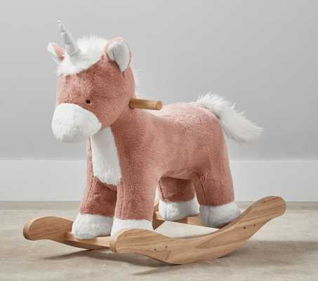 Unicorn Plush Nursery Rocker, Pink - Pottery Barn Kids