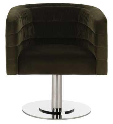 Marie Velvet Swivel Tub Chair - Giotto Dark Olive Green - Arlo Home - Arlo Home