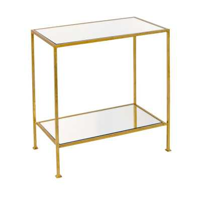 Worlds Away 2 Tier End Table Table Base Color: Gold Leaf - Perigold