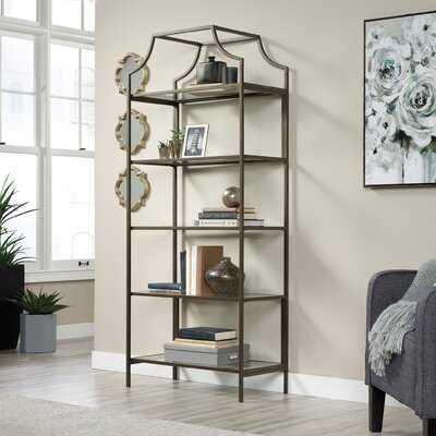 "Vandemere 70.88"" H x 30"" W Metal Etagere Bookcase - Wayfair"