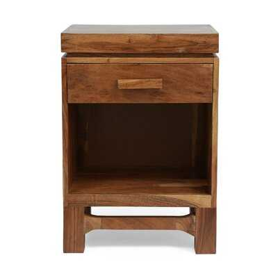 1 - Drawer Solid Wood Nightstand in Natural - Wayfair