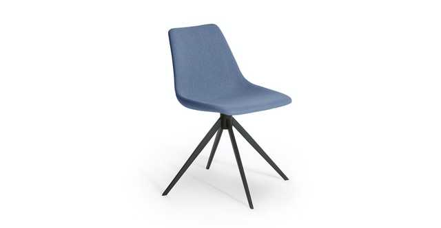 Wilsta Shoreline Blue Swivel Dining Chair - Article