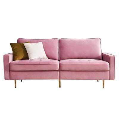 Mercer41 Modern Velvet Fabric Sofa (Pink) - Wayfair