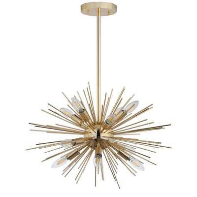 Safavieh Zadie 12-Light Gold Pendant - Home Depot