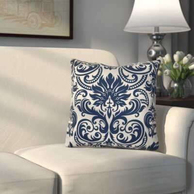 Ballentine Damask Square Pillow Cover and Insert - Birch Lane