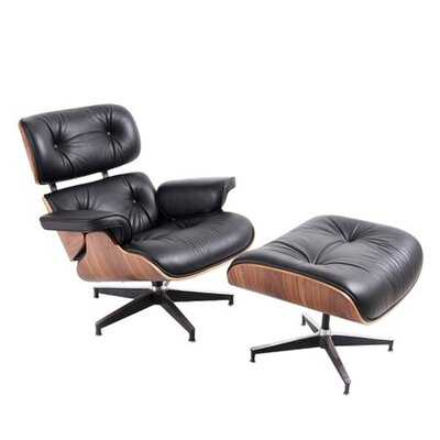 Rutland Swivel Lounge Chair with Ottoman - Wayfair