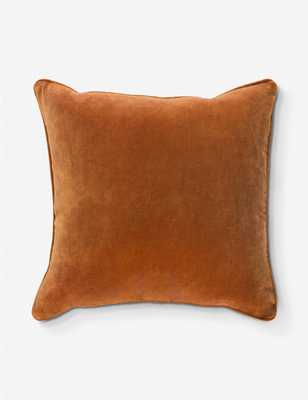 "Liam Pillow, Rust 18"" x 18"" down insert - Lulu and Georgia"
