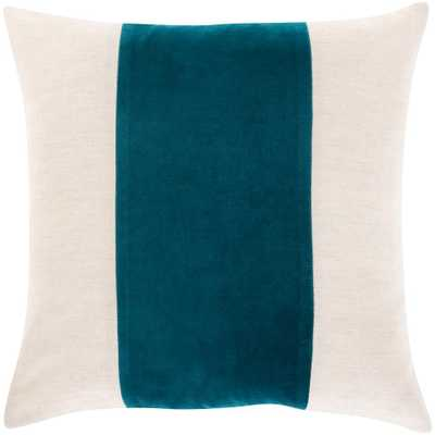 Artistic Weavers Riaz Teal 22 in. x 22 in. Poly Throw Pillow, Ivory/Khaki/Teal - Home Depot