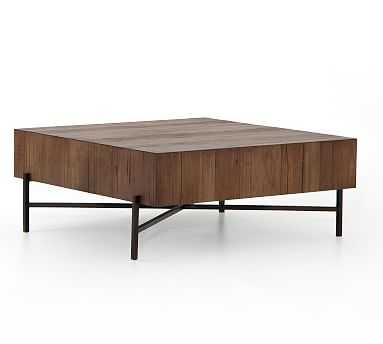 Fargo Square Coffee Table, Natural Brown - Pottery Barn