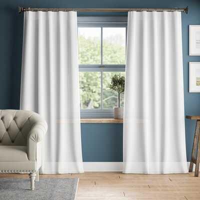 Woodbridge Linen Sheer Rod Pocket Single Curtain Panel - Birch Lane