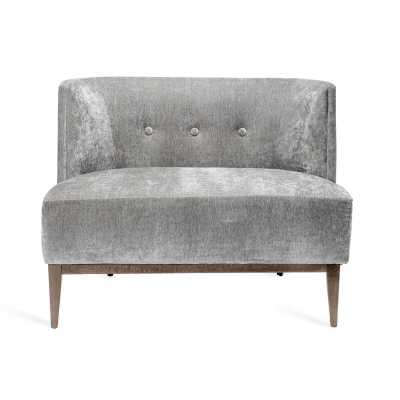 Interlude Chloe Lounge Chair Upholstery Color: Granite - Perigold