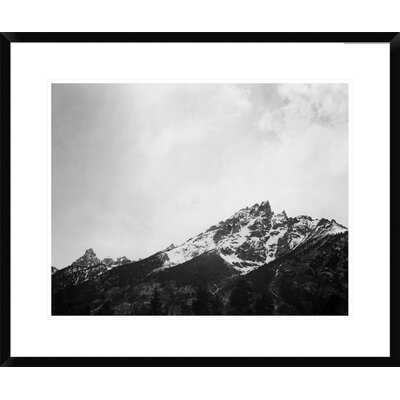 'Snow Covered Peak in Grand Teton National Park, Wyoming, 1941' by Ansel Adams Framed Photographic Print - AllModern