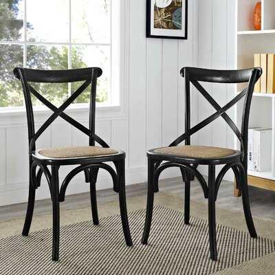 Gayla Solid Wood Cross Back Side Chair - Birch Lane