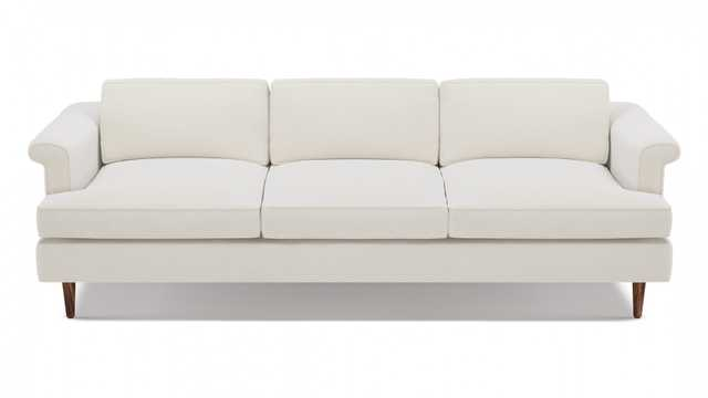 Mid-Century Sofa | White Velvet - The Inside