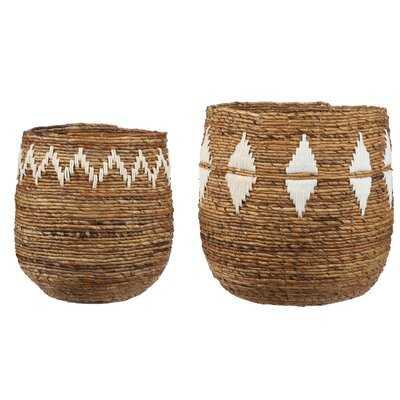Thelma 2 Pieces Wicker Basket Set - Wayfair