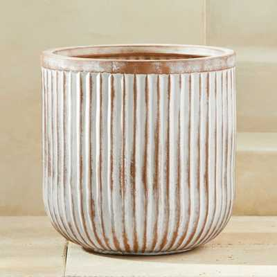Caio Fluted Planter Large - CB2