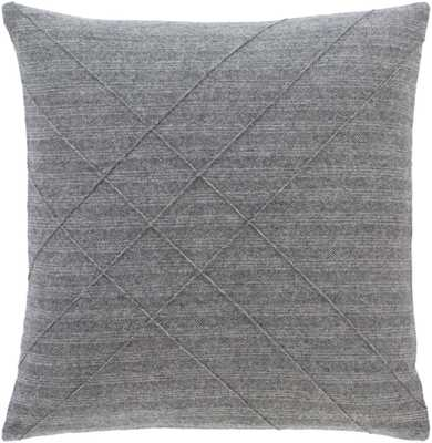 "Welsley Pillow Cover, 18""x 18"", Charcoal - Cove Goods"