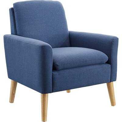 Desai Armchair-Blue Linen Blend - Wayfair