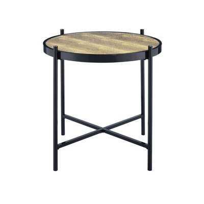 Anegam Glass Top End Table - Wayfair