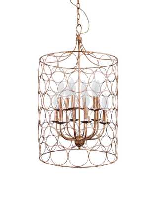Gold Metal Chandelier with Circlet Designs & 12 Lights - Nomad Home