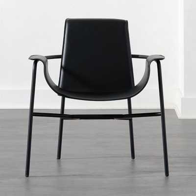 Gemini Black Lounge Chair - CB2