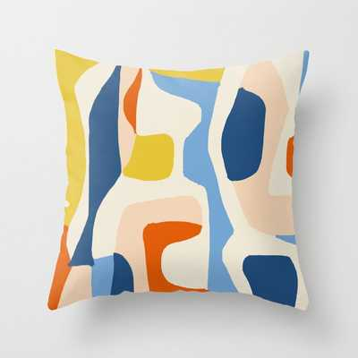 """Me & Mine #abstract #painting Couch Throw Pillow by 83 Orangesa(r) Art Shop - Cover (18"""" x 18"""") with pillow insert - Indoor Pillow - Society6"""