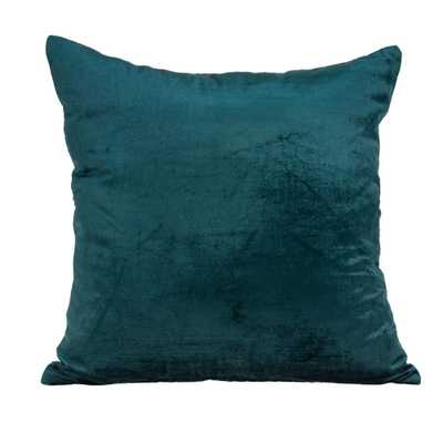 PARKLAND COLLECTION Bento Teal Solid Bolster Throw Pillow, Blue - Home Depot