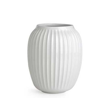 Kahler Hammershoi Vase, White Porcelain, Small - Pottery Barn
