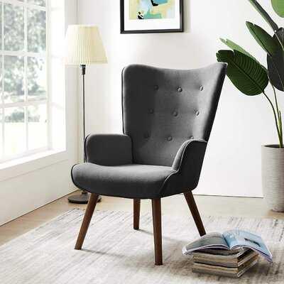 "Grund 24"" W Tufted Wingback Chair - Wayfair"