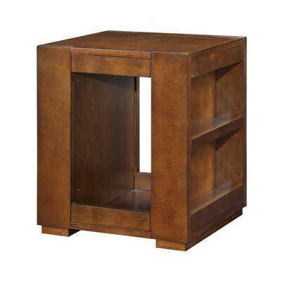 Eberhard Floor Shelf End Table with Storage - Wayfair