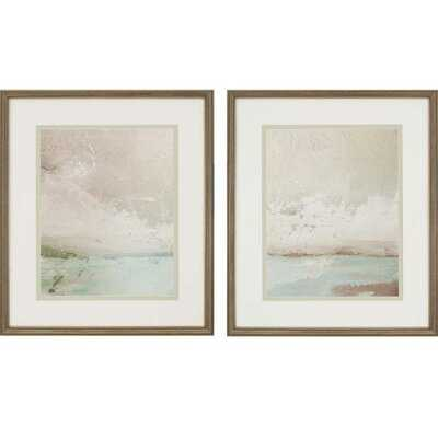 'Eastern Shore' 2 Piece Framed Painting Print Set - Wayfair