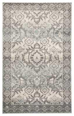 "Dasha Medallion Blue/ Gray Area Rug (7'6""X9'6"") - Collective Weavers"