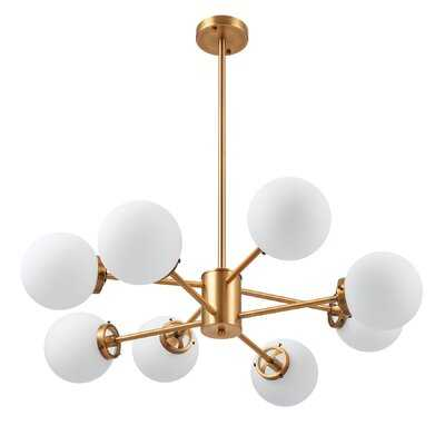 Weeden 8 - Light Sputnik Modern Linear Chandelier - Wayfair
